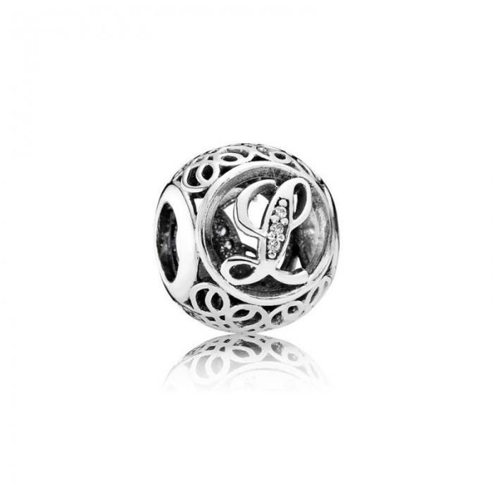 Pandora Charm Vintage L Clear CZ Jewelry