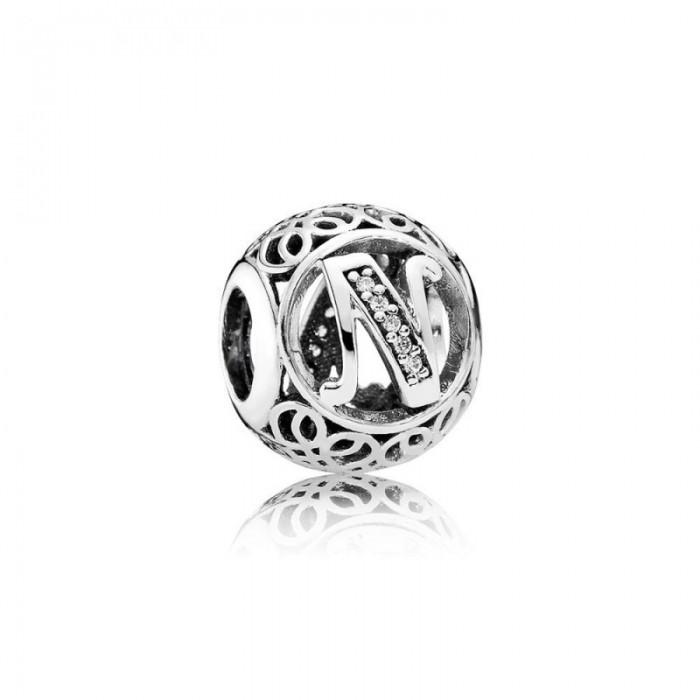 Pandora Charm Vintage N Clear CZ Jewelry