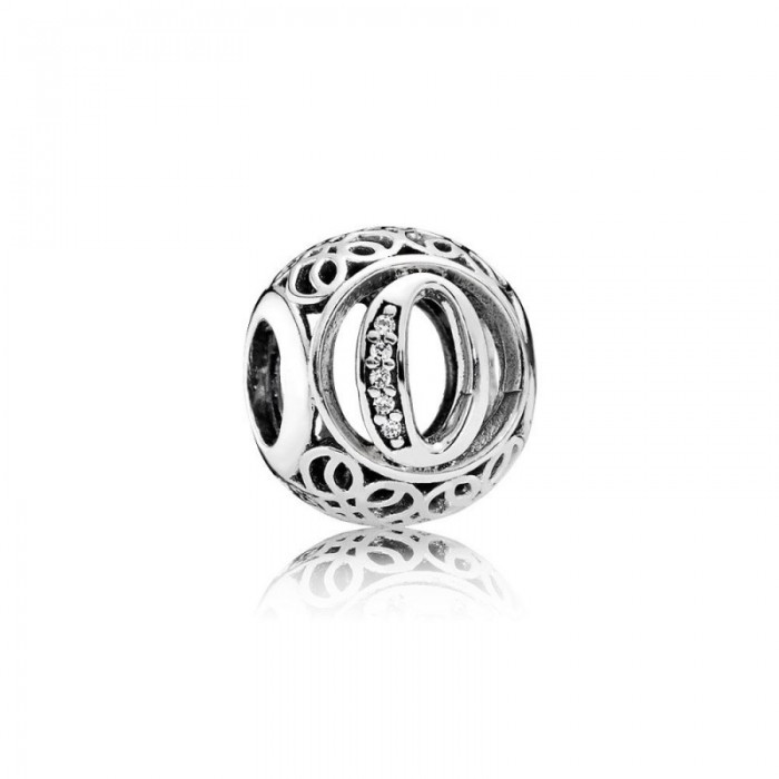 Pandora Charm Vintage O Clear CZ Jewelry