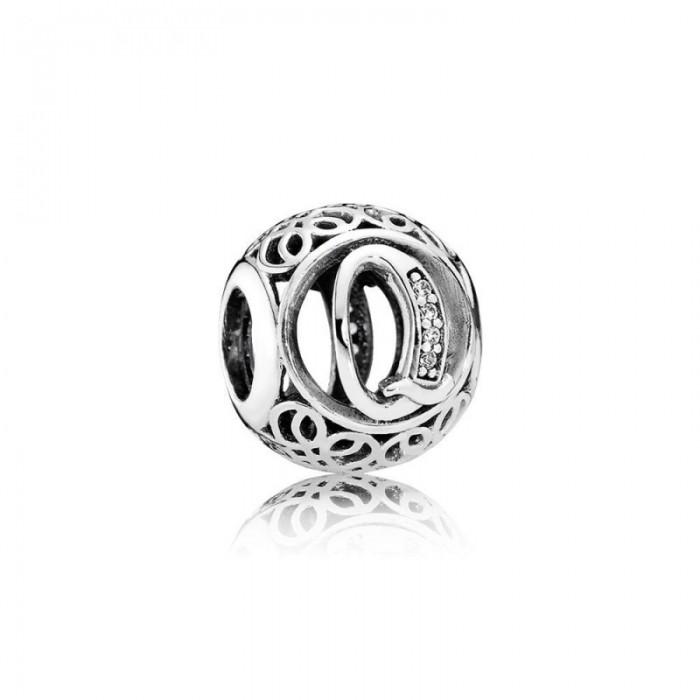Pandora Charm Vintage Q Clear CZ Jewelry