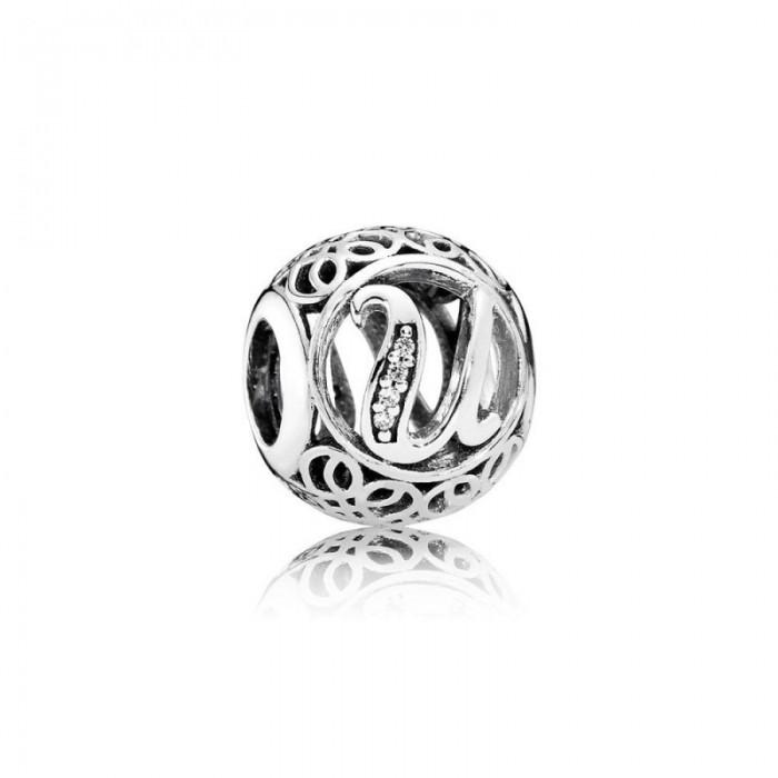 Pandora Charm Vintage U Clear CZ Jewelry