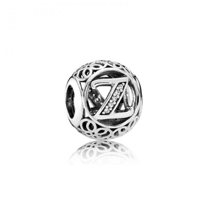 Pandora Charm Vintage Z Clear CZ Jewelry