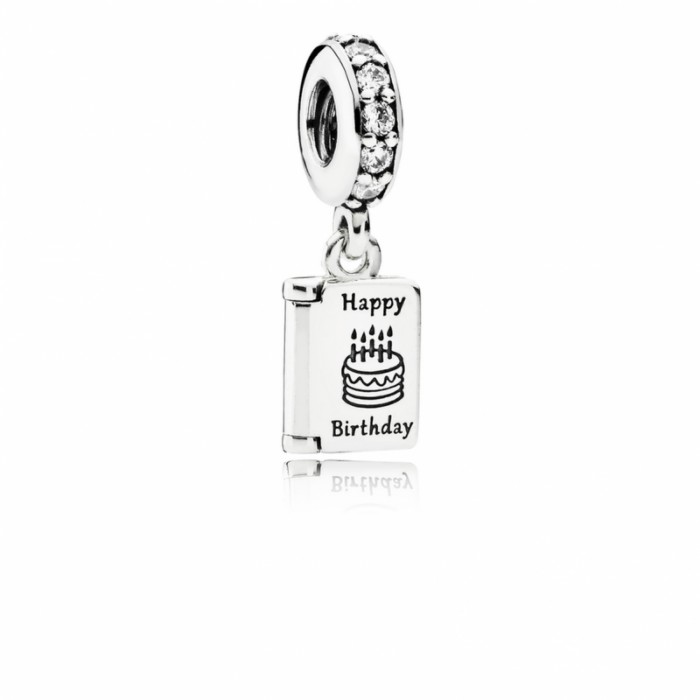 Pandora Charm Birthday Wishes Dangle Clear CZ Jewelry