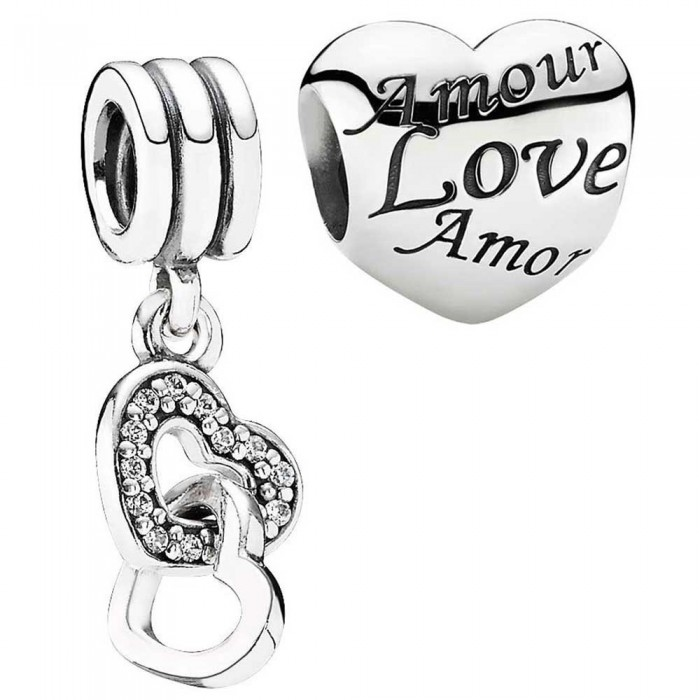 Pandora Charm Hearts Love CZ Jewelry