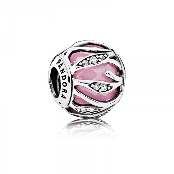 Pandora Charm Nature's Radiance Pink Clear CZ Jewelry