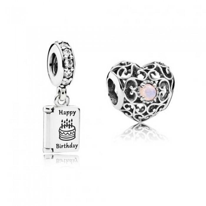 Pandora Charm October Birthday Birthstone Jewelry