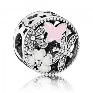 Pandora Charm Shimme Sp Floral Cubic Zirconia Jewelry