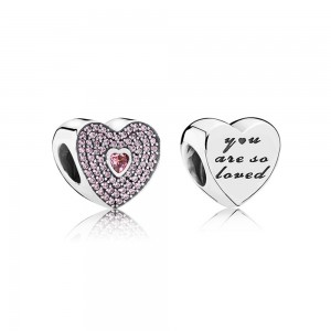 Pandora Charm So Loved Pave CZ Jewelry