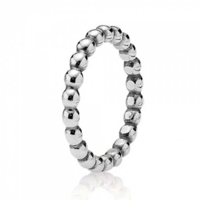 Pandora Ring Beaded Sterling Silver Jewelry