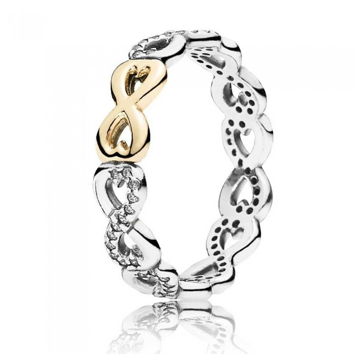 Pandora Ring Finite Love Gold Jewelry