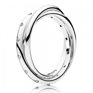Pandora Ring Forever Joined Pave CZ Silver Jewelry