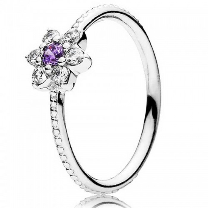 Pandora Ring Forget Me Not Floral Jewelry