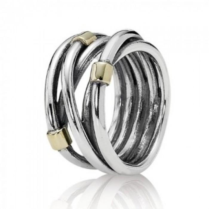 Pandora Ring Multi Cross Over Gold Jewelry