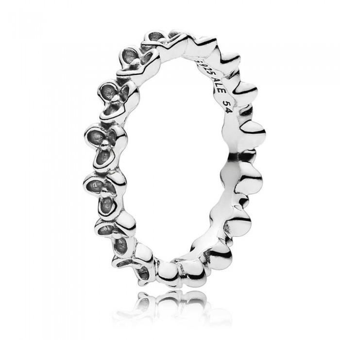 Pandora Ring Narrow Flower Band Jewelry