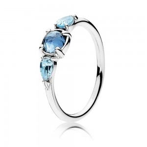 Pandora Ring Patterns Of Frost Ice Drops Silver Jewelry